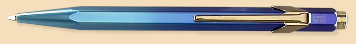Caran d'Ache MetalX Blue Office Pen