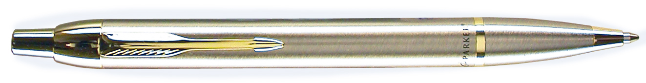Parker IM Stainless Steel Gold Trim Ballpen